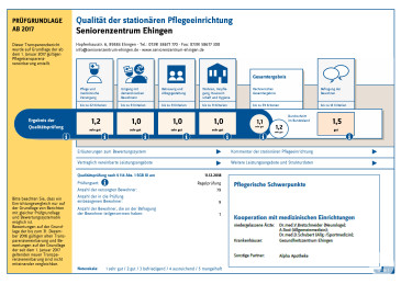 Transparenzbericht Seniorenzentrum Ehingen