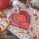 Seniorenzentrum Dietenheim, Kindergartenkinder und Senioren malen gemeinsam